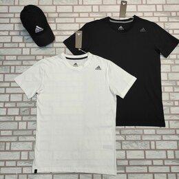 Футболки и майки - Мужская футболка Adidas белая, черная, 0