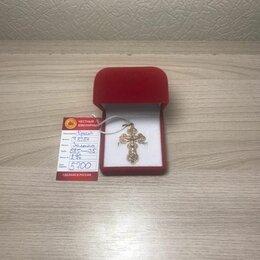 Кулоны и подвески - Подвеска крест, золото (Т-8284), 0