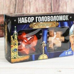 Головоломки - Набор деревянных головоломок, 2 шт, 0