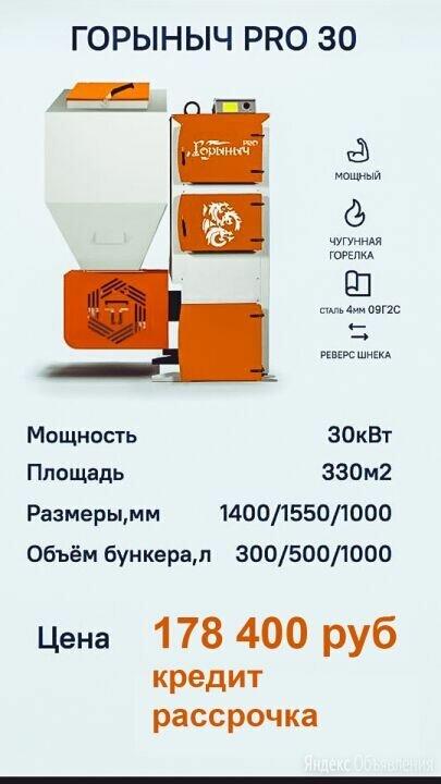 Автоматический твердотопливный котел Горыныч ПРО  30кВт  до 350 кв.метров по цене 178400₽ - Отопительные котлы, фото 0