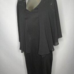 Платья - Платье футляр с шифоновой накидкой, 0