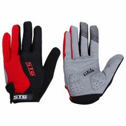 Защита и экипировка - Перчатки c длинными пальцами черные/красные STG L, 0