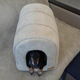 Лежаки, домики, спальные места - Домик для собак из плотной ткани 50х36х38см, 0