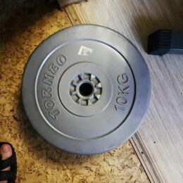 Штанги и грифы - Диск для штанги торнео 10 кг(пластмасса с песком), 0