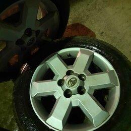 Шины, диски и комплектующие - Продам диски 5×114.3 Toyota  R-16 с резиной 205/60 (липучка) , 0