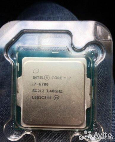 Intel core I7 6700 socket 1151 по цене 13500₽ - Процессоры (CPU), фото 0