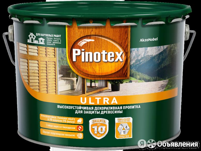 Pinotex Ultra / Пинотекс Ультра антисептик для древесины тиксотропный с УФ фи... по цене 1950₽ - Антисептики, фото 0