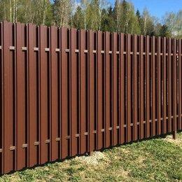 Заборы, ворота и элементы - Забор из профлиста, рабицы и 3D сетки. Навесы, 0
