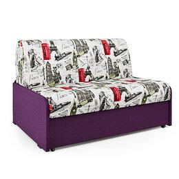 Диваны и кушетки - Диван-кровать Шарм-Дизайн Коломбо БП велюр Париж и рогожка фиолетовая, 0