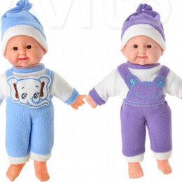 Куклы и пупсы -  Пупс мягкое тело, звук, 30см, пластик, полиэстер, 6 дизайнов, 0