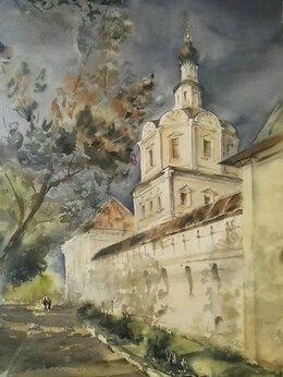 """Картины, постеры, гобелены, панно - Картина """"Перед бурей"""" , Церкви Москвы, 0"""