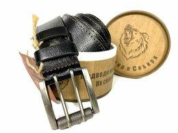 Ремни и пояса - Ремень кожаный мужской с двойной застёжкой 1360, 0
