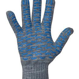 Средства индивидуальной защиты - Перчатки хлопчатобумажные 7,5 класс  5 нитей ПВХ волна, 0