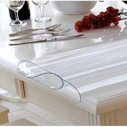 Скатерти и салфетки - Прозрачная мягкая скатерть 180x60 толщина 1 мм гибкая стекло плёнка на стол, 0