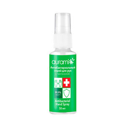 Дезинфицирующие средства - Антибактериальный спрей для рук Aurami с…, 0