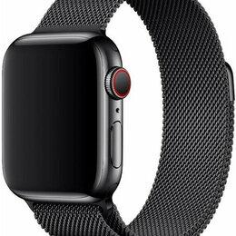Ремешки для умных часов - Ремешок для Apple Watch 42/44 мм Металл Black Миланская петля, 0
