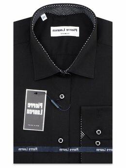 Рубашки - Черная рубашка мужская PL0214SF , 0