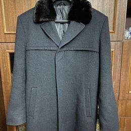 Пальто - Мужское полушерстяное пальто, 0