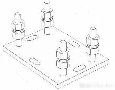 Подставка регулируемая роликовой опоры для балок 71х60х3,5 по цене 850₽ - Пиломатериалы, фото 0