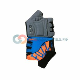 Прочие аксессуары и запчасти - Велоперчатки FUZZ X-SERIES, с петельками, голубо-оранжевый (Размер: L), 0