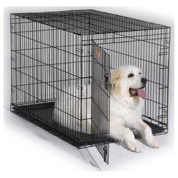 Клетки, вольеры, будки  - Midwest iCrate клетка 122х76х84h (черная) …, 0