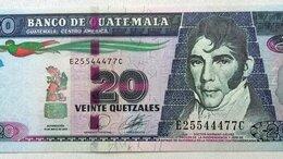 Банкноты -  Гватемала 20 кетцалей 2010 г., 0