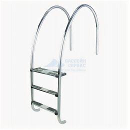 Лестницы и поручни - Лестница для переливных бассейнов AstralPool Venera, нерж. сталь V4A, 4 ступе..., 0
