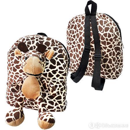 Рюкзак KWELT Жираф, 1 отделение, регулируемые лямки, плюшевый 30*24*8см по цене 399₽ - Рюкзаки, ранцы, сумки, фото 0