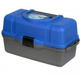 Сумки и ящики - Ящик рыболовный трехполочный Helios синий, 0