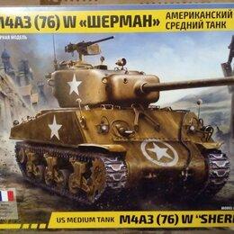 Сборные модели - 3676 звезда 1/35 американский средний танк м4а3 76 шерман, 0