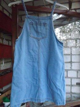 Платья и сарафаны - сарафан джинсовый на 10 лет, 0