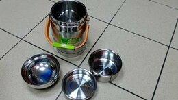 Термосы и термокружки - Термос ланч-бокс для еды с тарелками 1,6 литра, 0