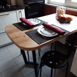 Столы и столики - КУХОННЫЙ СТОЛ МЮНХЕН 1200Х700 (ЛОФТ) (165268), 0
