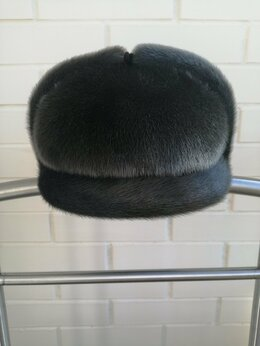 Головные уборы - Мужская меховая кепка из канадской нерпы, 0