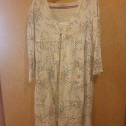 Домашняя одежда - Хлопковый комплект для дома Халат и Сорочка, 0