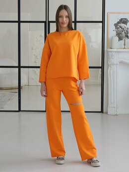 Блузки и кофточки - Джемпер длинный рукав спорт-шик, 0