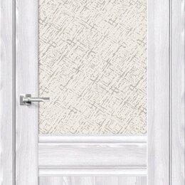 Межкомнатные двери - Межкомнатная дверь с экошпоном Прима-3.1 Riviera Ice   White Сross, 0