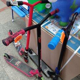 Самокаты - самокат трюковой новый Tech Team-100 колеса 10 см с металлическими дисками , 0