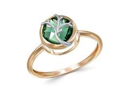 Кольца и перстни - Кольцо с 3 кварцами из красного золота, 0