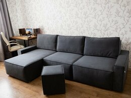 Диваны и кушетки - Модульный диван серый велюровый, 0