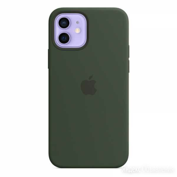 Силиконовый чехол MagSafe для iPhone 12 Pro/iPhone 12, цвет «кипрский зелёный» по цене 4990₽ - Чехлы, фото 0