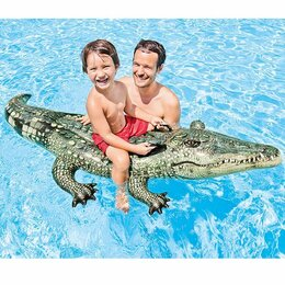 Аксессуары для плавания - Игрушка для плавания «Аллигатор» 170 х 86 см INTEX, 0