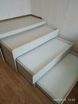 Кроватки - Кровать детская трёхярусная выдвижная, 0