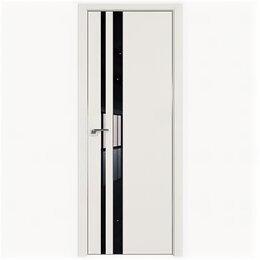Межкомнатные двери - Межкомнатные двери Profil Doors 16E ДаркВайт Стекло Lacobel Черный лак Кромка..., 0