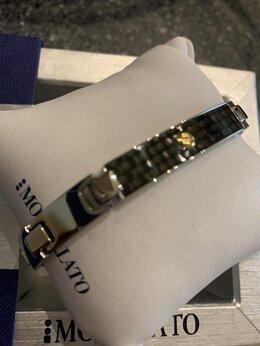 Браслеты - Новый мужской браслет со вставкой золота, 0