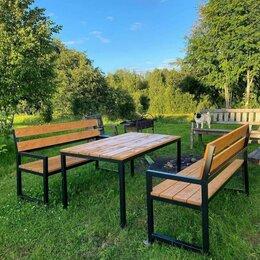 Комплекты садовой мебели - Садовая мебель, скамейка, стол, 0