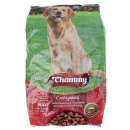 Корма  - Сухой корм Chammy для взрослых собак, говядина, 12 кг, 0
