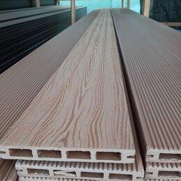 Древесно-плитные материалы - Террасная Доска из ДПК 140х20 ЭКО, универсальная, цвет Орех, 0