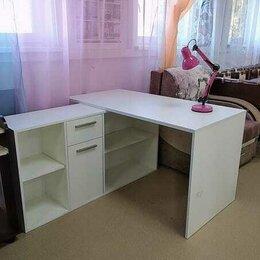 Компьютерные и письменные столы - Стол письменный лайт 03.245 белый, 0