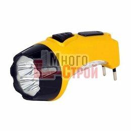 Настольные игры - Аккумуляторный светодиодный фонарь 4+6 LED с прямой зарядкой Smartbuy, желтый, 0